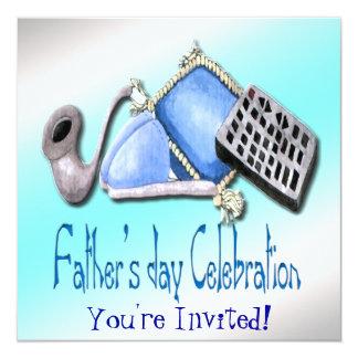 Komfort des Zuhause - der Vatertags-Einladung Quadratische 13,3 Cm Einladungskarte