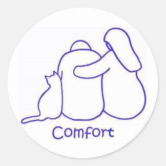 Komfort Runder Aufkleber