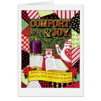 Komfort-und Freude-Weihnachtskarte Grußkarte