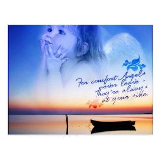 Komfort von Engeln Postkarte