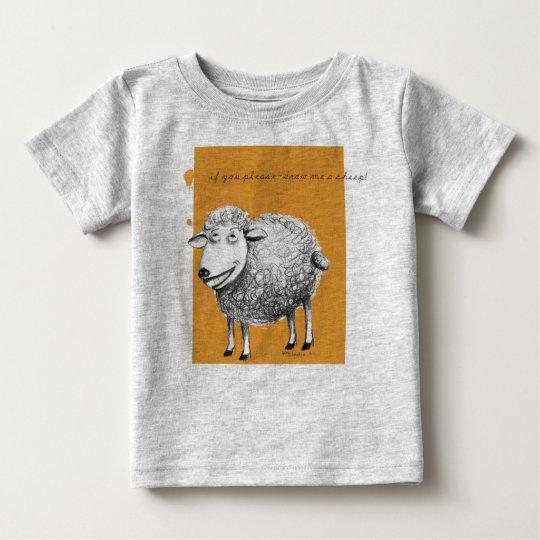 Komfortabler T-shirt mit dem divertida. Schaf
