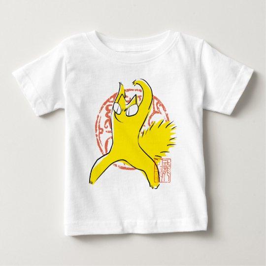 Komische lustige Streitkatze Asiatsillustration Baby T-shirt