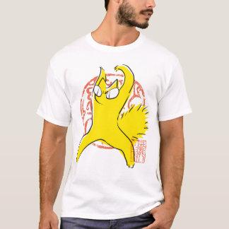 Komische lustige Streitkatze Asiatsillustration T-Shirt