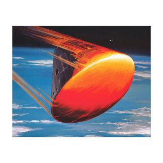 Kommandomodul-Raum-Kapsel-Grafik der NASAs Apollo Leinwanddruck