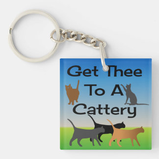 Kommen Sie Thee zu einem Cattery Keychain Schlüsselanhänger