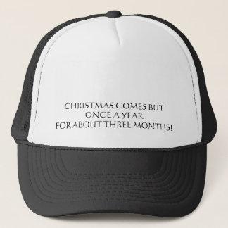 Kommerzialisierung von Weihnachten Truckerkappe