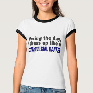 Kommerzieller Banker während des Tages T-Shirt