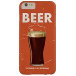 Kommerzielles Plakat des Vintagen Bieres Barely There iPhone 6 Plus Hülle