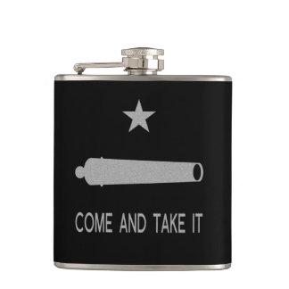 Kommt es Flagge ~ Texas nehmen Flachmann