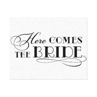 Kommt hier das Hochzeits-Zeremonie-Zeichen der Gespannte Galerie Drucke