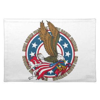 Kommt hier Freiheits-Amerikaner-Weißkopfseeadler Tischset