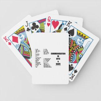 Kommunikation in Dits und in Dahs (Morsealphabet) Bicycle Spielkarten