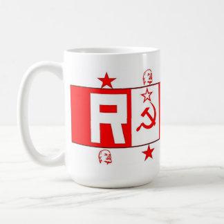 Kommunistisch, sozialistisch, Lenin, russische Kaffeetasse