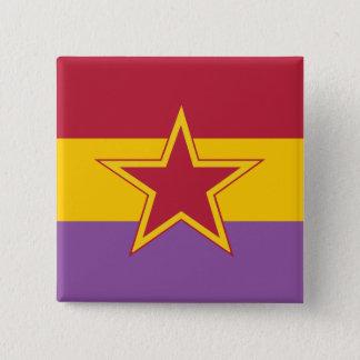 Kommunistisches Party von Spanien, Kolumbien Quadratischer Button 5,1 Cm