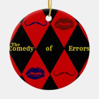 Komödie der Fehler-Verzierung Keramik Ornament
