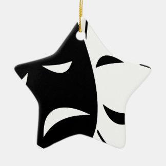 Komödien-und Tragödie-Maske Keramik Ornament