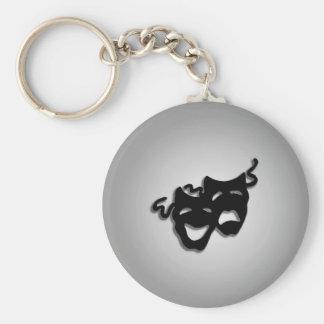 Komödien-und Tragödie-Theater-Masken Schlüsselanhänger