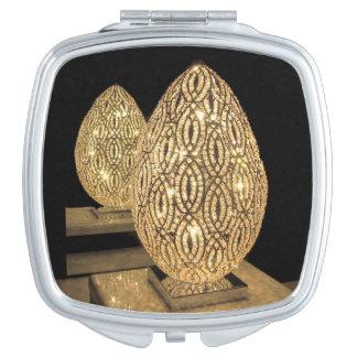 Kompakter Spiegel--Beleuchtetes Ei Schminkspiegel