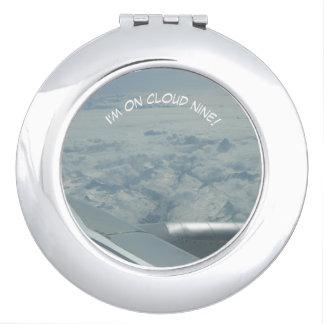 Kompakter Spiegel der Wolken-neun Schminkspiegel