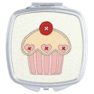 Kompakter Spiegel des kleinen Kuchens Taschenspiegel