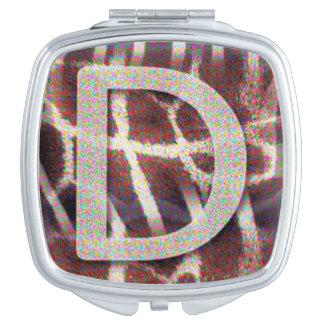 Kompakter Spiegel des Monogramm-D Taschenspiegel