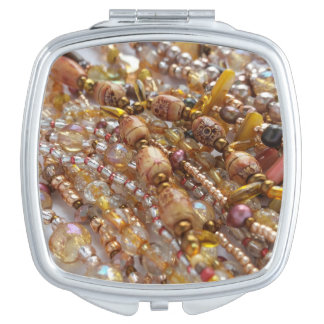Kompakter Spiegel-Erdton-Perlen-Druck Taschenspiegel