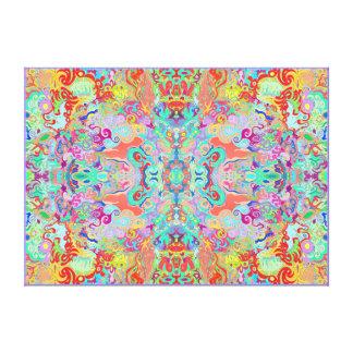 Kompass-Fraktal-große starke MehrfarbenLeinwand Leinwanddruck