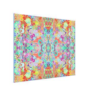 Kompass-Fraktal-optimale MehrfarbenLeinwand Leinwanddruck