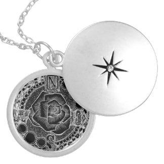 Kompass-Rose - viktorianisches gotisches Steampunk Medaillon