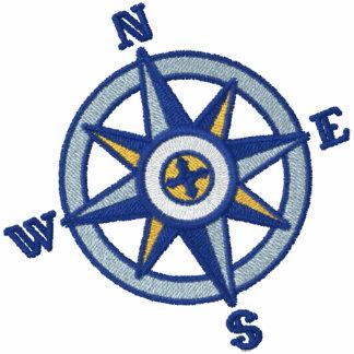 Kompass-Rosen-Segeln Polo Hemd