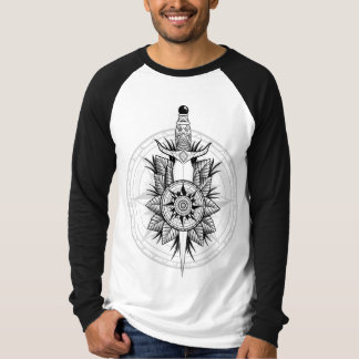 Kompass und Dolch T-Shirt