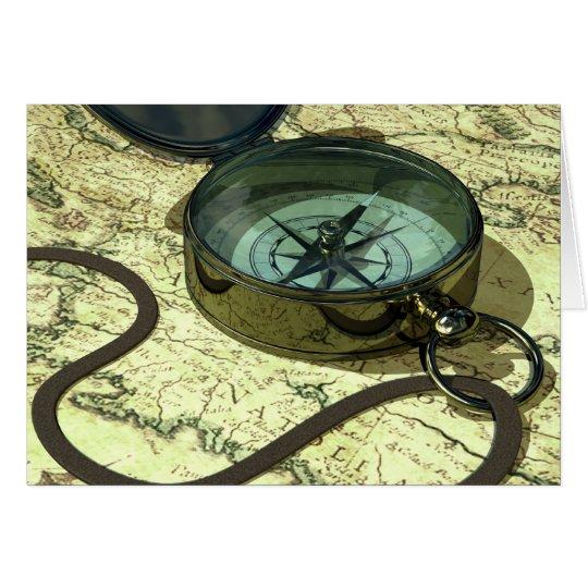 Kompass-und Karten-Karte Grußkarte