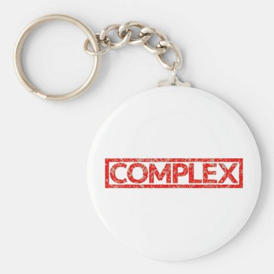 Komplexe Briefmarke Standard Runder Schlüsselanhänger
