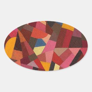 Komposition durch Otto Freundlich Ovaler Aufkleber