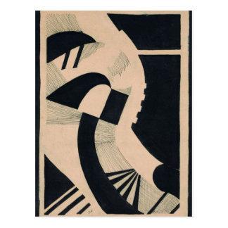 Komposition in Schwarz und Weiß durch Otto Postkarte