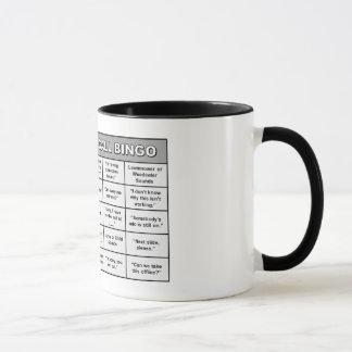Konferenz-Anruf-Bingo-Tasse Tasse