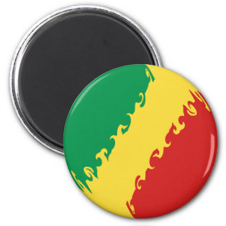 Kongo-Brazzaville Gnarly Flagge Magnete