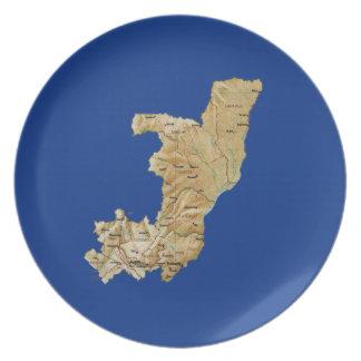 Kongo-Brazzaville Karten-Platte Teller