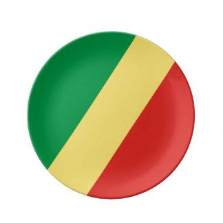 Kongo- - Kongoflagge Teller