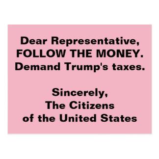 Kongreß folgen dem Trumpf-Geld-Russland-Widerstand Postkarte