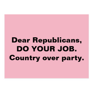 Kongreß tun Ihr Job-Land über Party-Rosa Postkarte