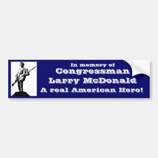 Kongressabgeordnetes Larry McDonald Autoaufkleber