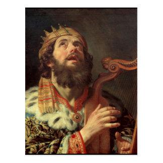 König David Playing die Harfe Postkarte