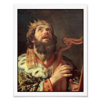 König David Playing His Harp Fotodruck