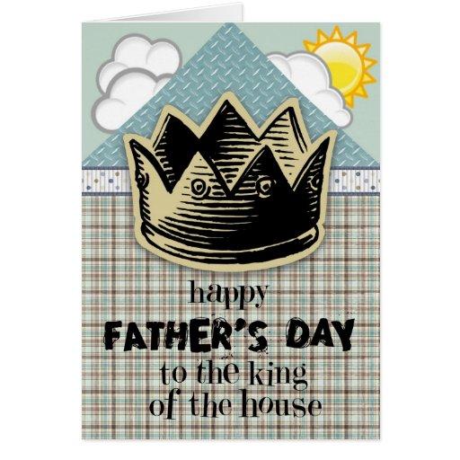 König der der Vatertags-Karte Haus-