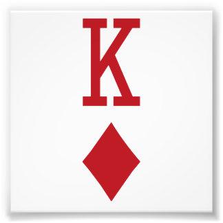 König der Diamant-roten Spielkarte Fotodruck