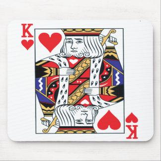König der Herz-Mausunterlage Mousepad