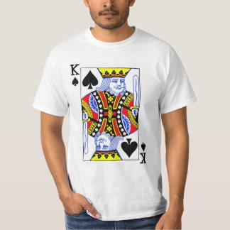 König der Spaten-Spielkarte T-Shirt