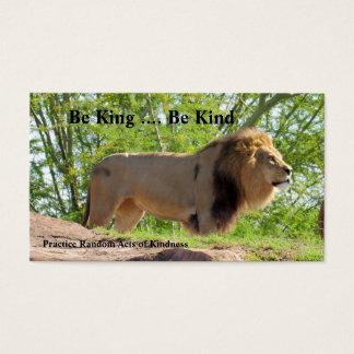 König der Taten des Dschungel-(Löwe) der Visitenkarte