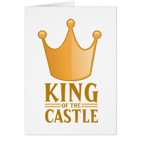 König des Schlosses Grußkarte